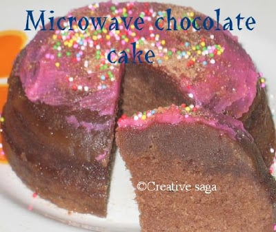Eggless Chocolate Cake In Microwave Using Condensed Milk