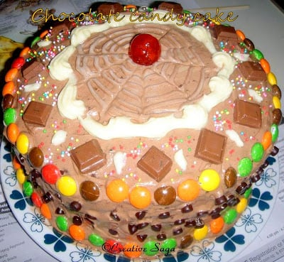 Chocolate Candy Cake Kids Birthday