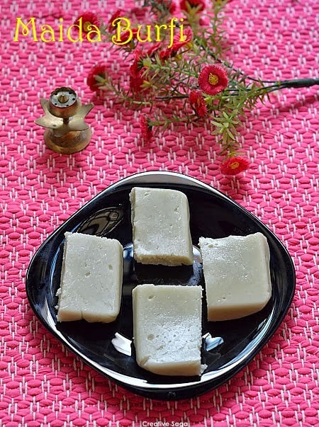 Maida burfi recipe how to make fudge with plain flour easy diwali cuisine indian forumfinder Image collections