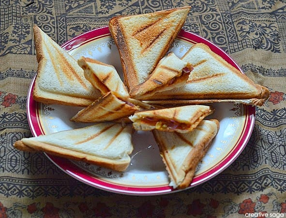 How to make bhujiya sandwich easy indian bread recipes kids course sandwich forumfinder Image collections