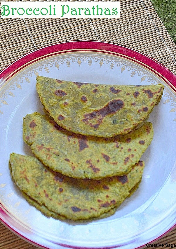 Broccoli paratha recipe easy indian bread recipes creativesaga it was really good and i felt this is the best way of eating your broccoli its going to be regular at my place now forumfinder Choice Image