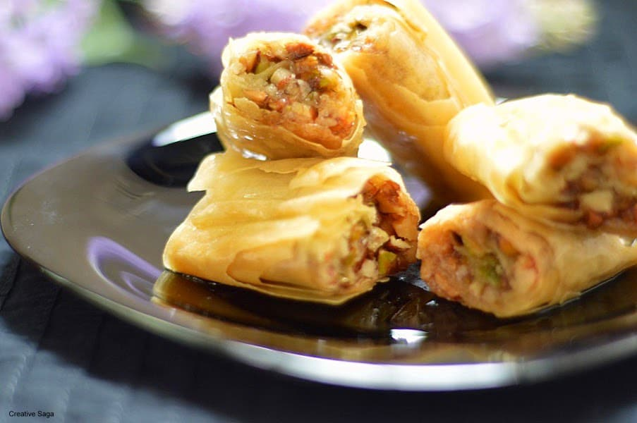 Baklava rolls recipe easy sweet recipes you can try for diwali baklava rolls recipe easy sweet recipes you can try for diwali creativesaga forumfinder Image collections
