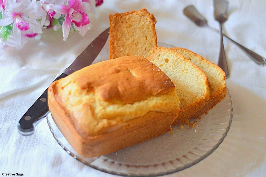 Eggless vanilla cake using condensed milk - easy eggless ...