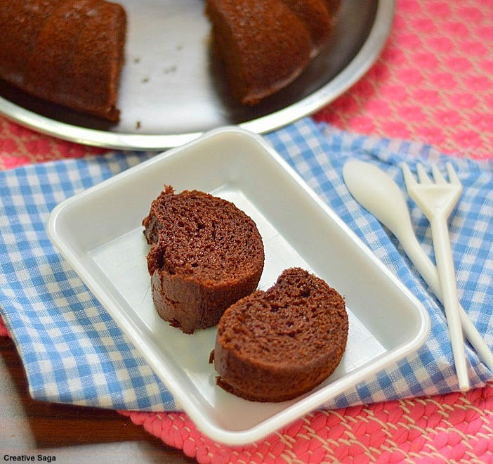How to make eggless chocolate cake without condensed milk