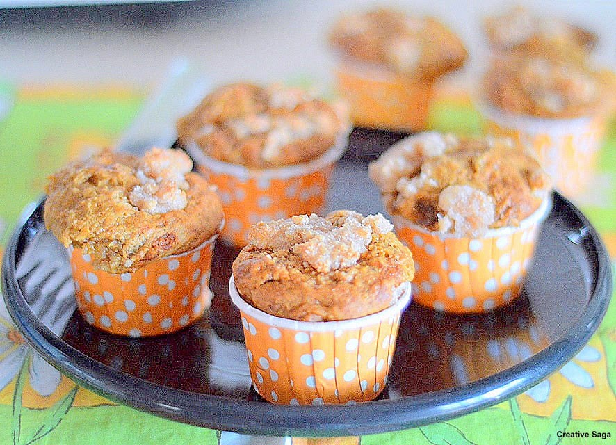 Eggless banana muffins with streusal topping easy baking recipes this was one of the bookmarked recipes which i found through foodgawker i guess though we do not have muffins for breakfast on one lovely weekend morning forumfinder Images